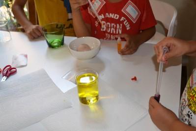 química, color, taller