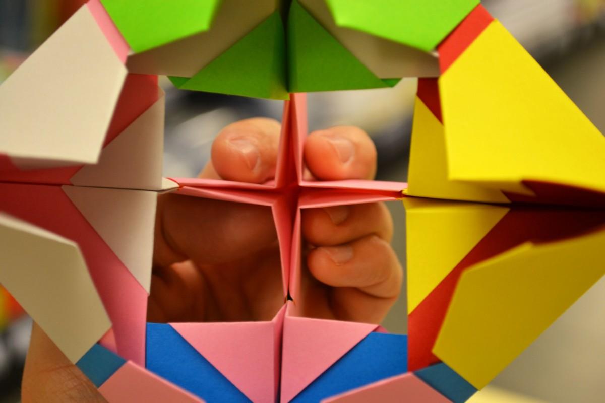 sòlids platònics, octaedre, colors