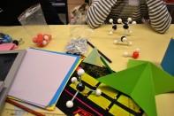 sòlids platònics, octaedres, cubs, colors, molecules, barcelona