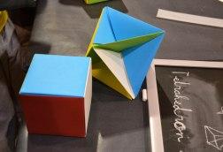 Octaedre, cub, origami, taller, Badalona