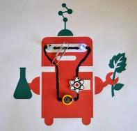 Dibuixant circuits elèctrics pintura conductora