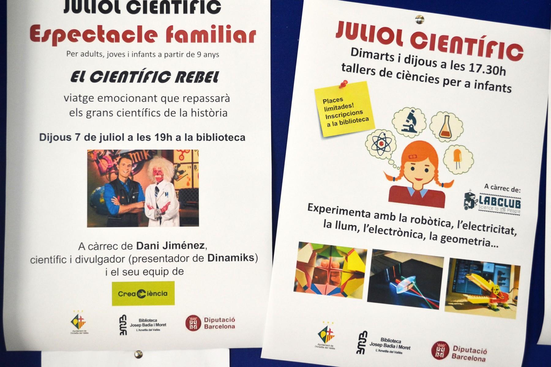 Juliol Científic LABCLUB Biblioteca Ametlla Vallès